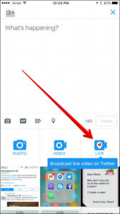 tap-on-live-button-in-twitter-on-iphone