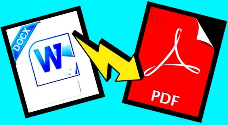 تحويل الوورد الى pdf