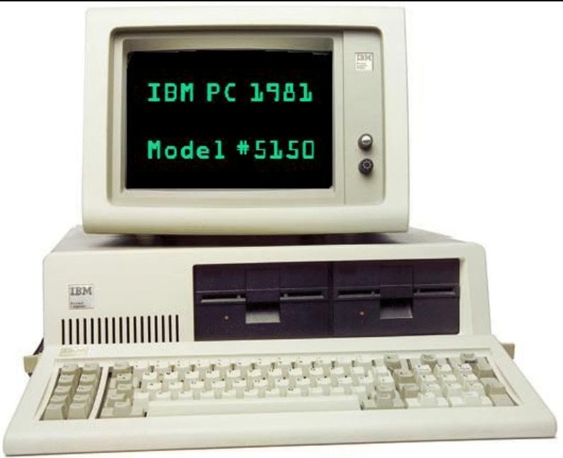 IBM First Computer 5150 year 1981